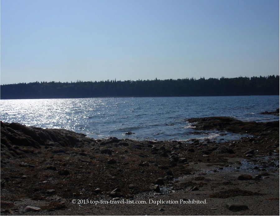Scenic water views in Islesboro, Maine