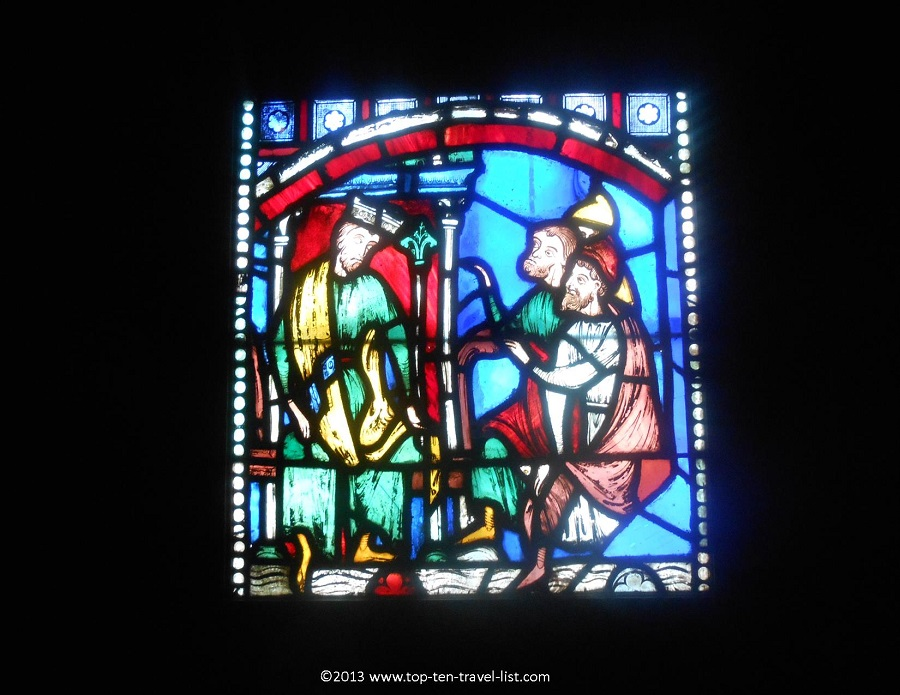 Gorgeous stained glass at Worcester Art Museum in Massachusetts