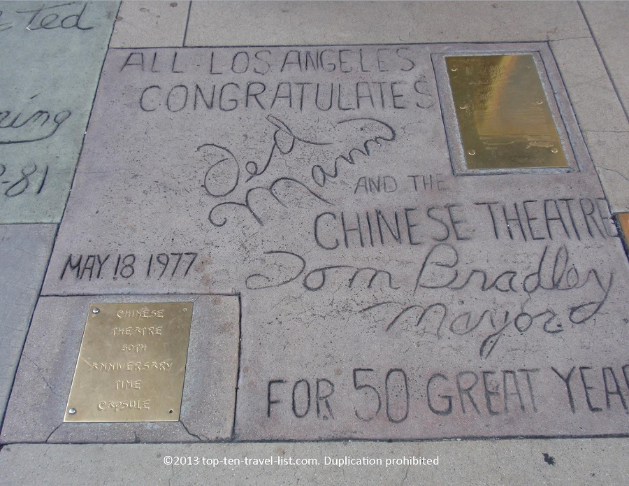 Time Capsule at Hollywood Walk of Fame