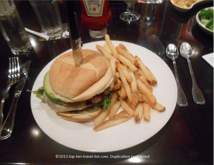 Turkey burger at Hard Rock Cafe