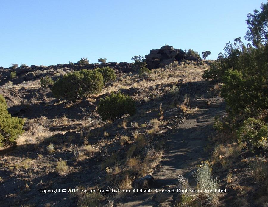 Uphill climb at North Menan Butte trailhead in Menan, Idaho