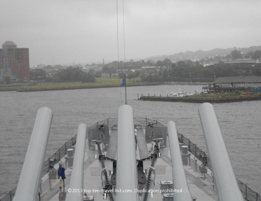 View from USS Massachusetts - Battleship Cove - Fall River, MA