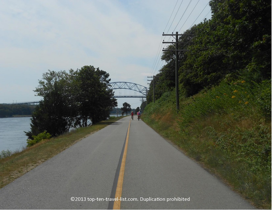 View of the Sagamore Bridge from the Cape Cod Canal Path
