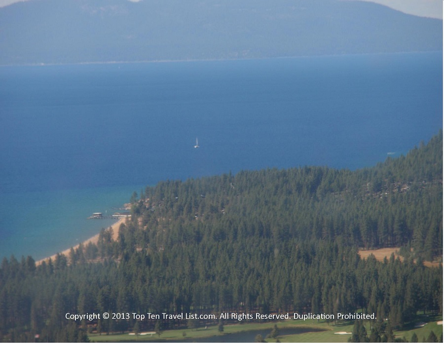 Views from the Heavenly Village gondola in South Lake Tahoe, CA