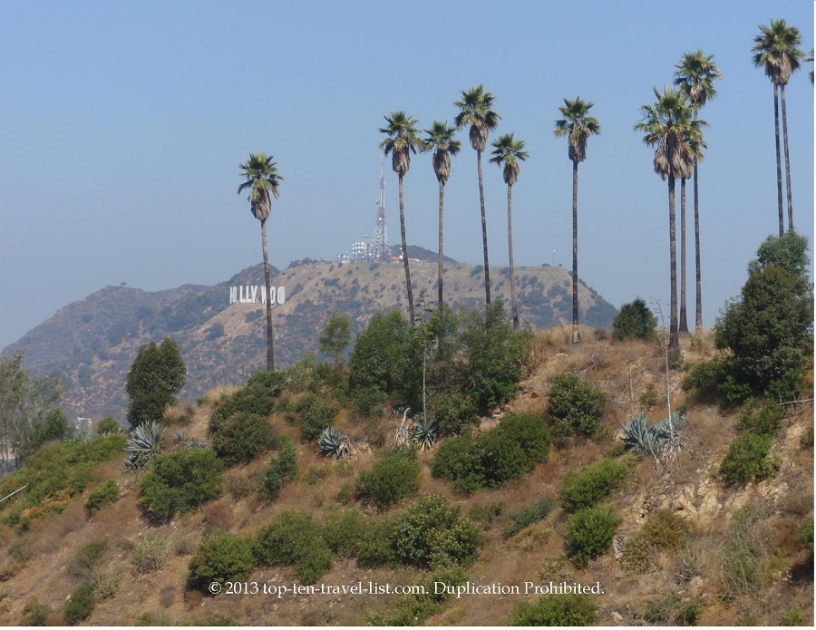 Views of Hollywood Sign from Griffith Park in Los Angeles