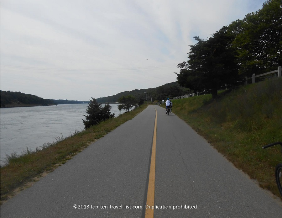 Views of the Cape Cod Canal bike path