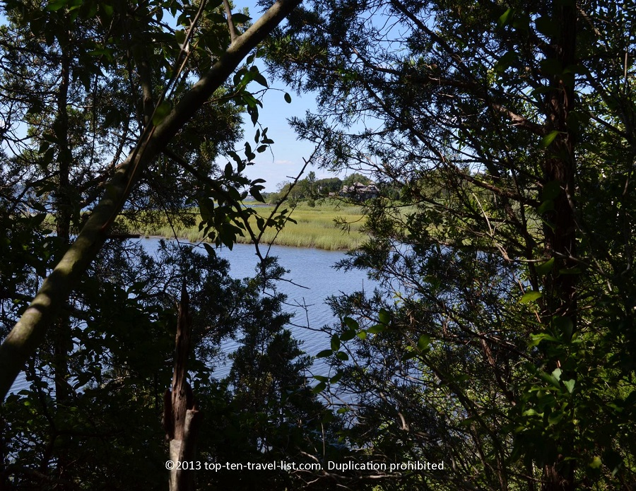 River views at Emilie Ruecker Wildlife Refuge in Tiverton, RI