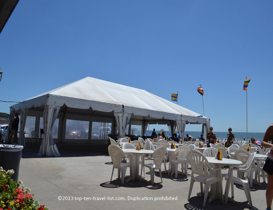 Atlantic Beach Club - Middletown, Rhode Island - outdoor bar seating