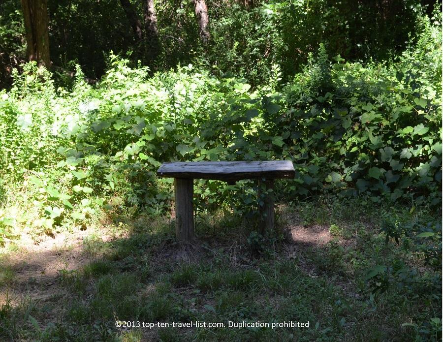 Wooden bench - Emilie Ruecker Wildlife Refuge - Tiverton, RI
