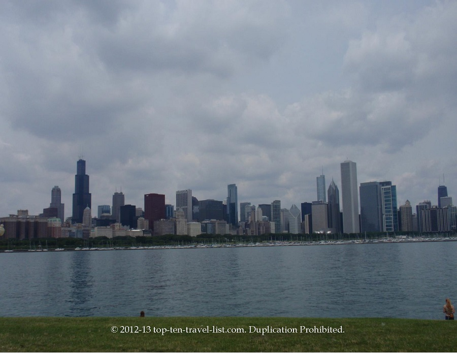 Chicago Skyline view from Planetarium