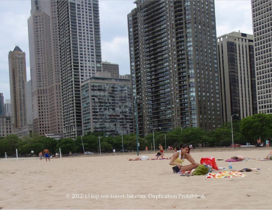 Oak Street Beach in Chicago, IL