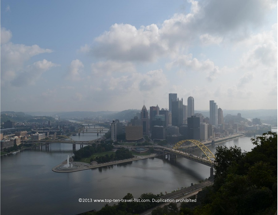 Pittsburgh skyline from Duquesne Incline
