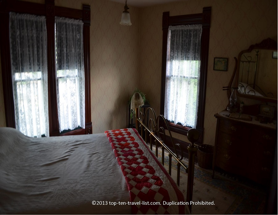 Bedroom at the Reagan boyhood home in Dixon, IL