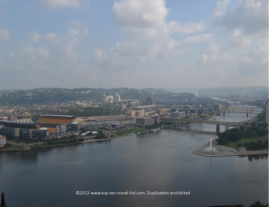 View of the river from Duquesne Incline in Pittsbugh