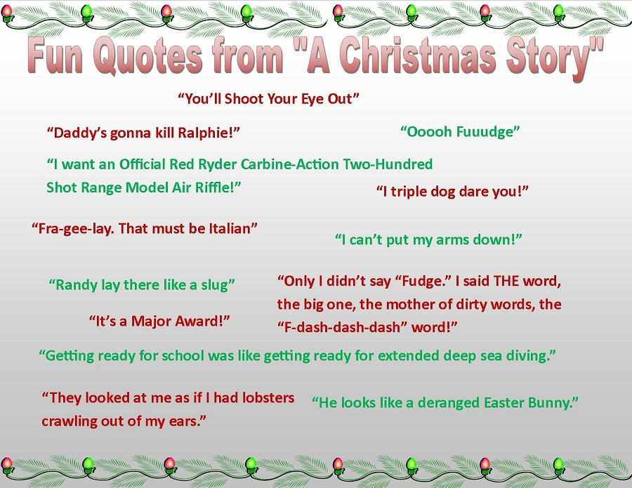 "Best quotes from ""A Christmas Story"""