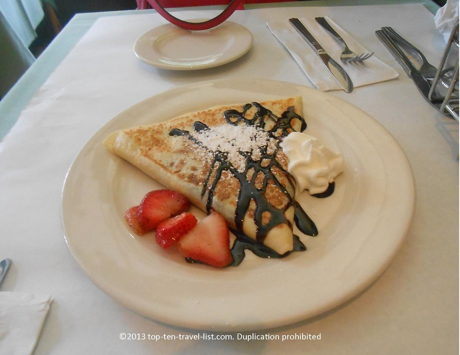 Dark chocolate crepe at Le Petit Triangle Cafe in Cleveland