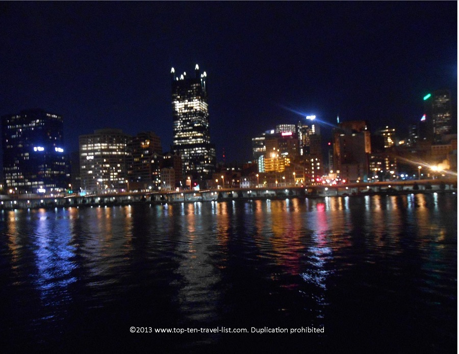 Night views of the Pittsburgh skyline