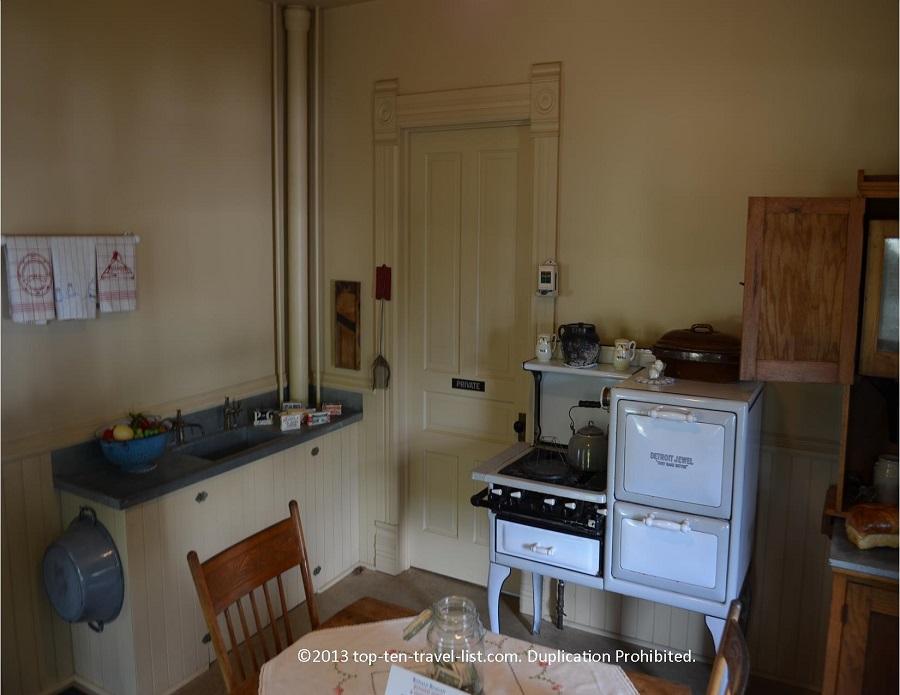 Kitchen of the Reagan house in Dixon, IL