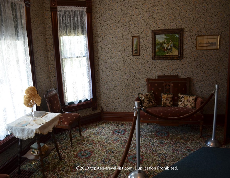 Parlor in Reagan's Boyhood Home in Dixon, IL