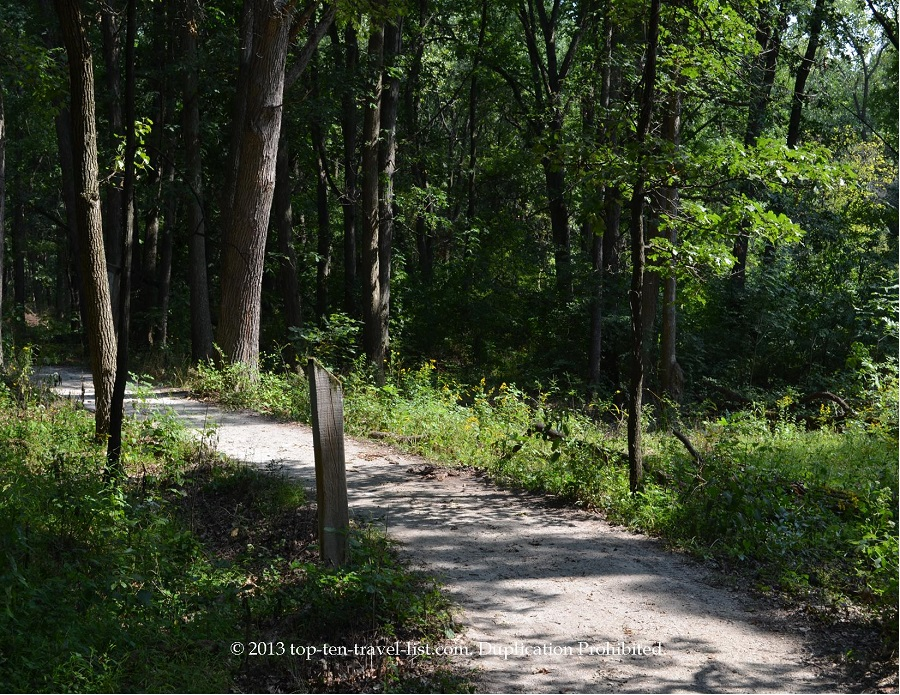 View of the path at Little Red School House