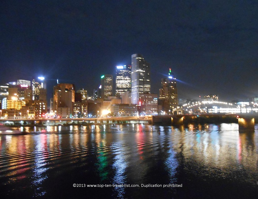 Night view of Pittsburgh from Station Square