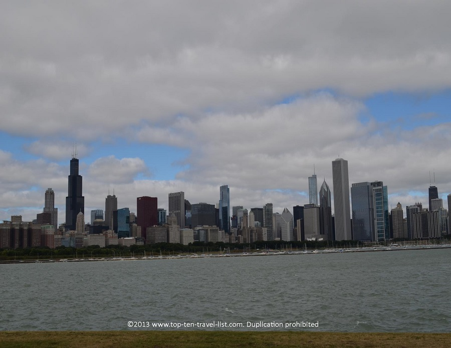 Chicago skyline views from the Adler Planetarium