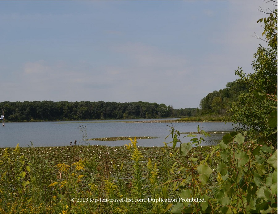 Lake views at Little Red School House in Palos Heights, IL
