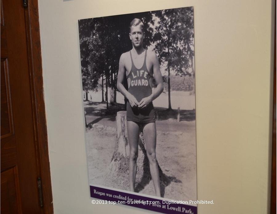 Reagan's lifeguard picture - Dixon, IL