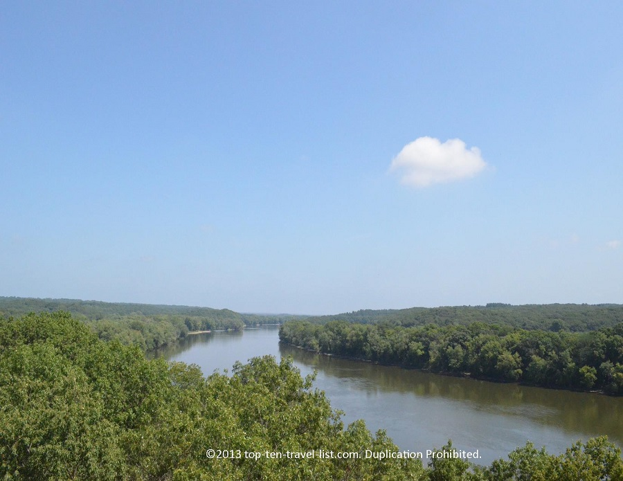 Views of the river from Castle Rock State Park in Oregon, IL