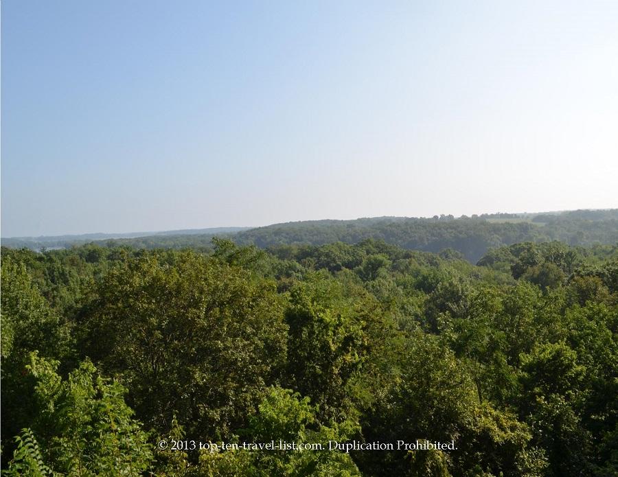Scenic overlook at Lowell Park in Dixon, IL
