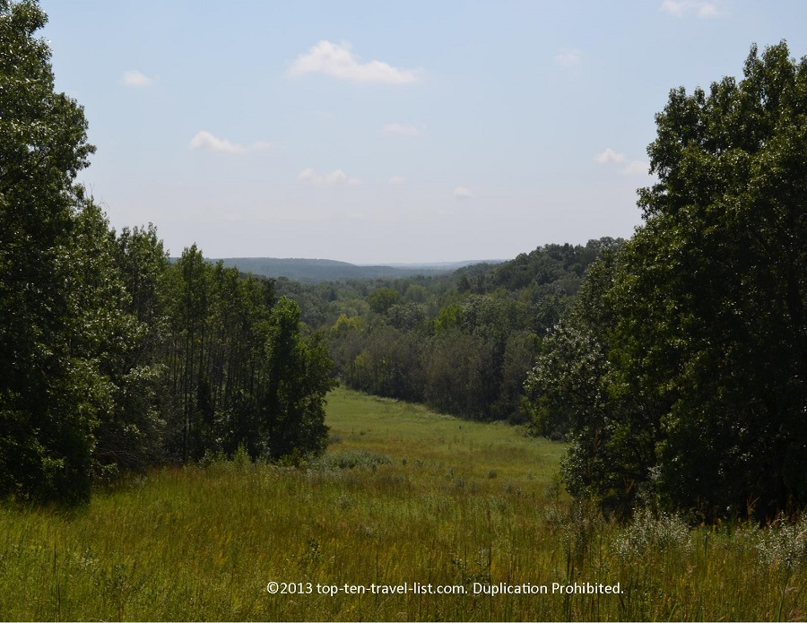 Scenic overlook from a hiking trail at Castle Rock State Park