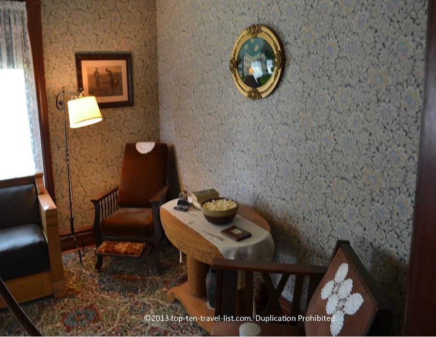 Sitting room in Reagan's Boyhood Home in Dixon, IL