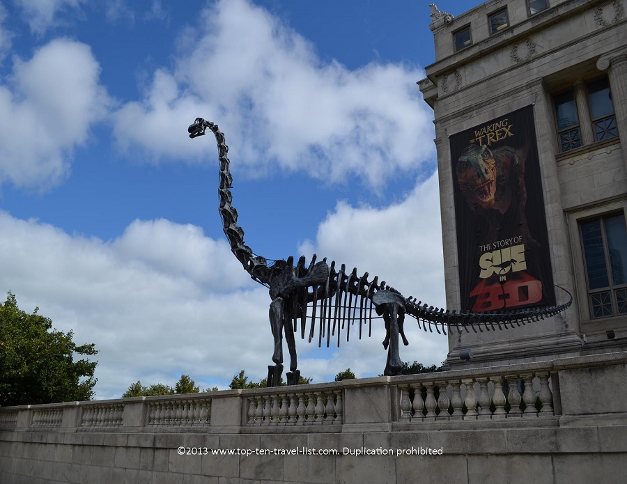 Dinosaur sculpture outside Chicago's Field Museum