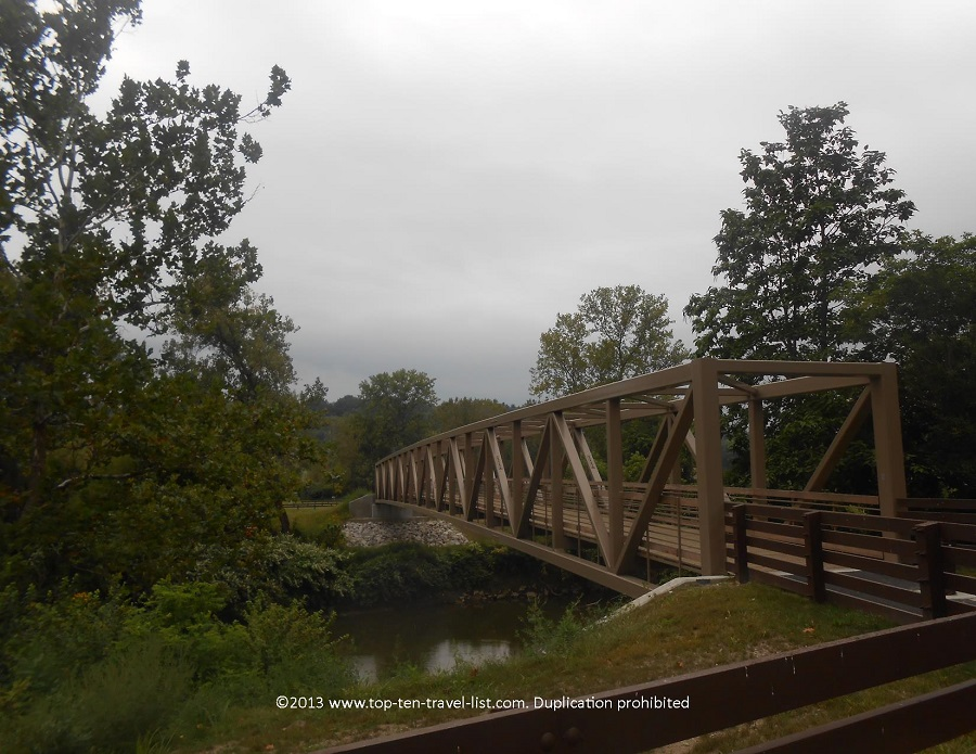 Scenic bridge along the Ohio & Erie Canal Towpath