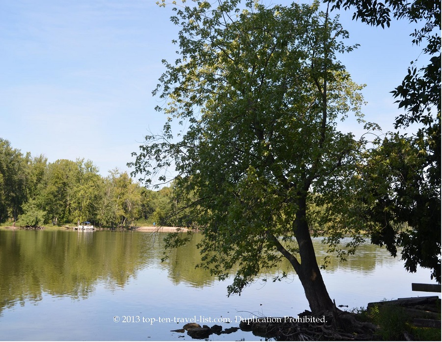 Beautiful Rock River views at Lowden State Park in Oregon, IL