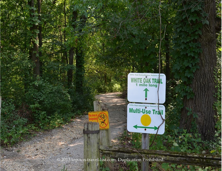 White Oak Trail at Little Red School House Nature Center