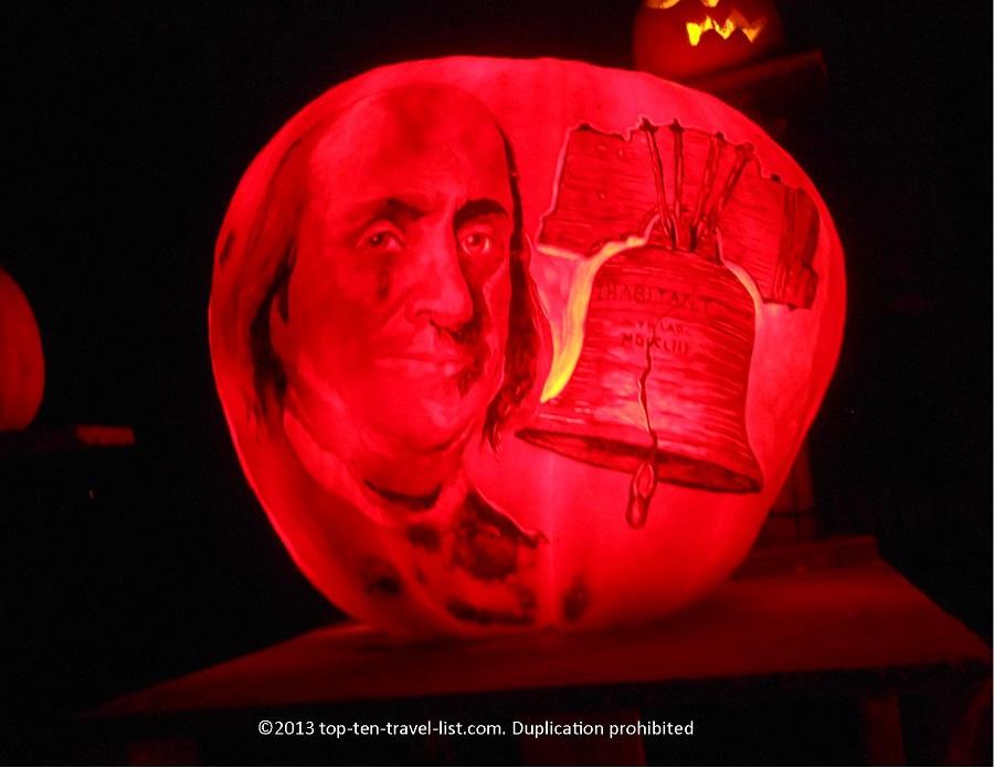 Benjamin Franklin Jack O'lantern