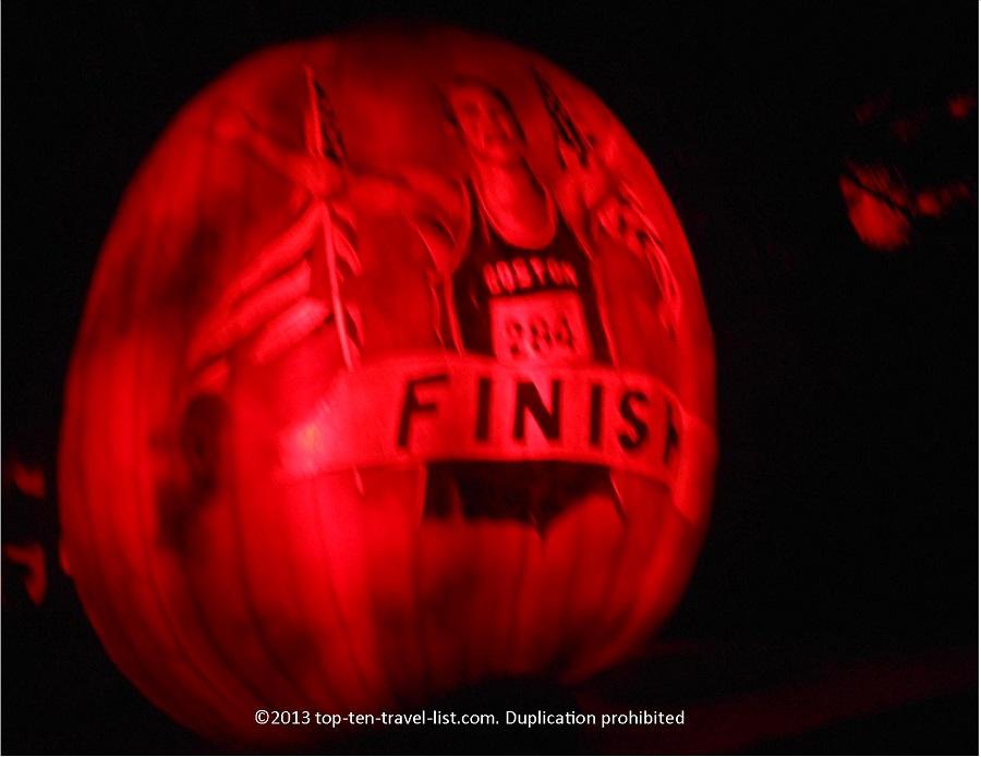 Boston Marathon Jack O'Lantern