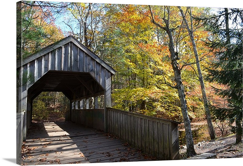 Covered bridge in East Haddam, Connecticut