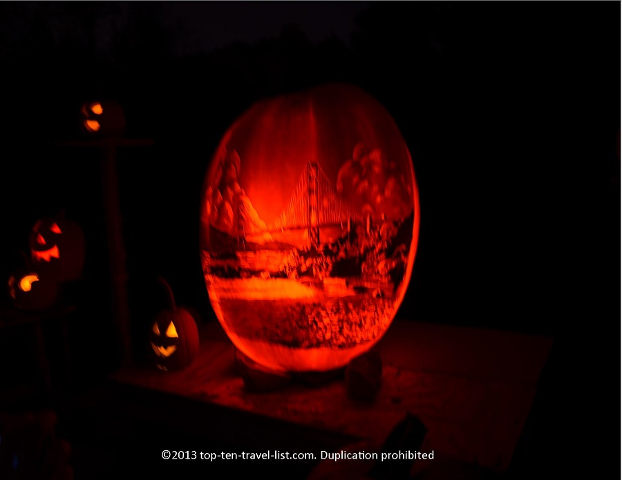 Golden Gate bridge Jack O'Lantern