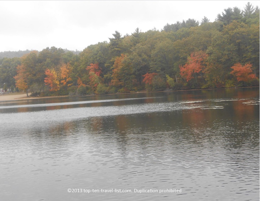 Fall foliage at Houghton's Pond in Milton, MA