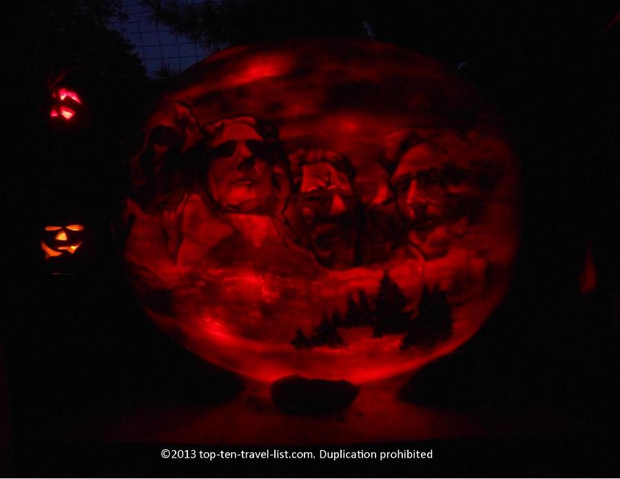 Mt Rushmore Jack O'Lantern
