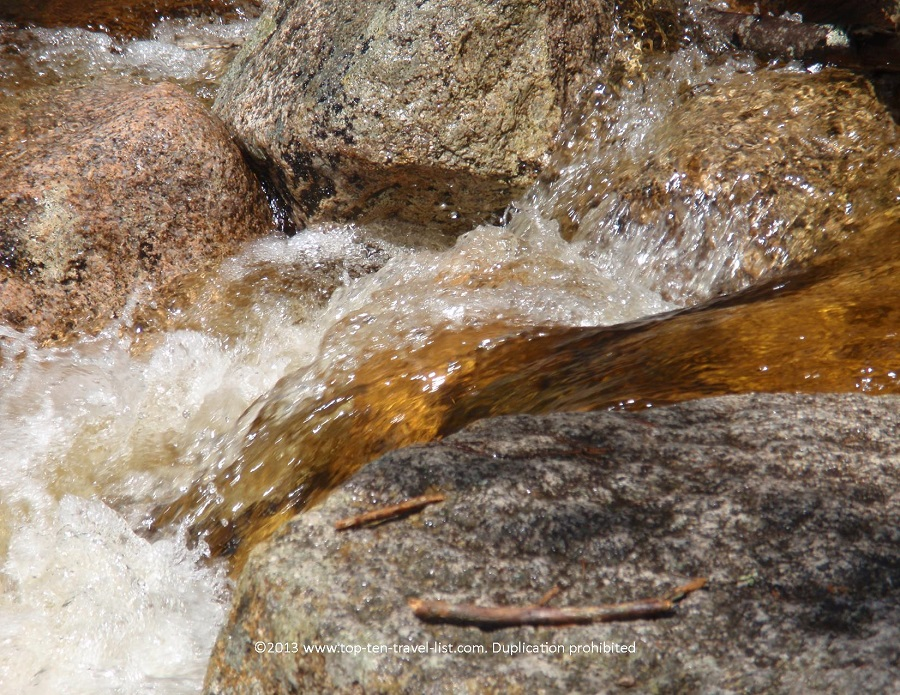 Close up of a stream at White Mountains National Forest