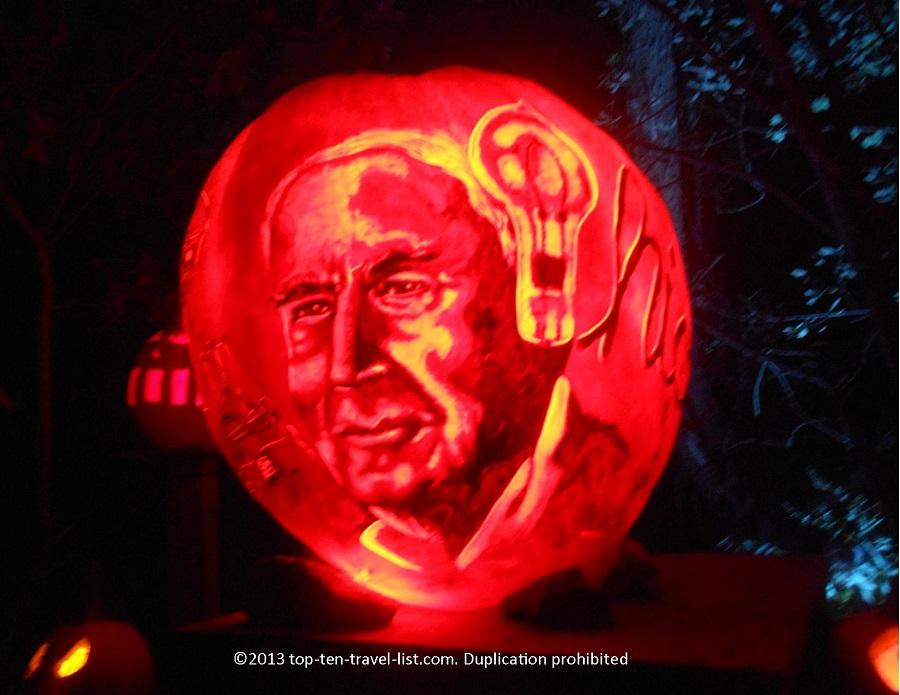 Thomas Edison Jack O'Lantern