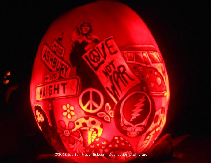 Peace San Francisco Jack O'lantern