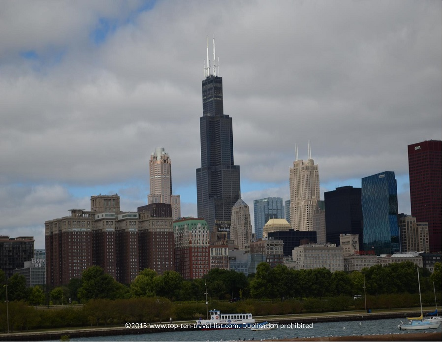 Sears Tower as seen from the Chicago Lakefront Path