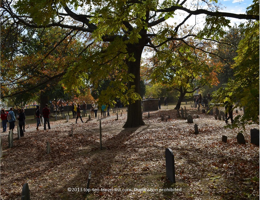 Old Burying Point Cemetery in Salem, Massachusetts