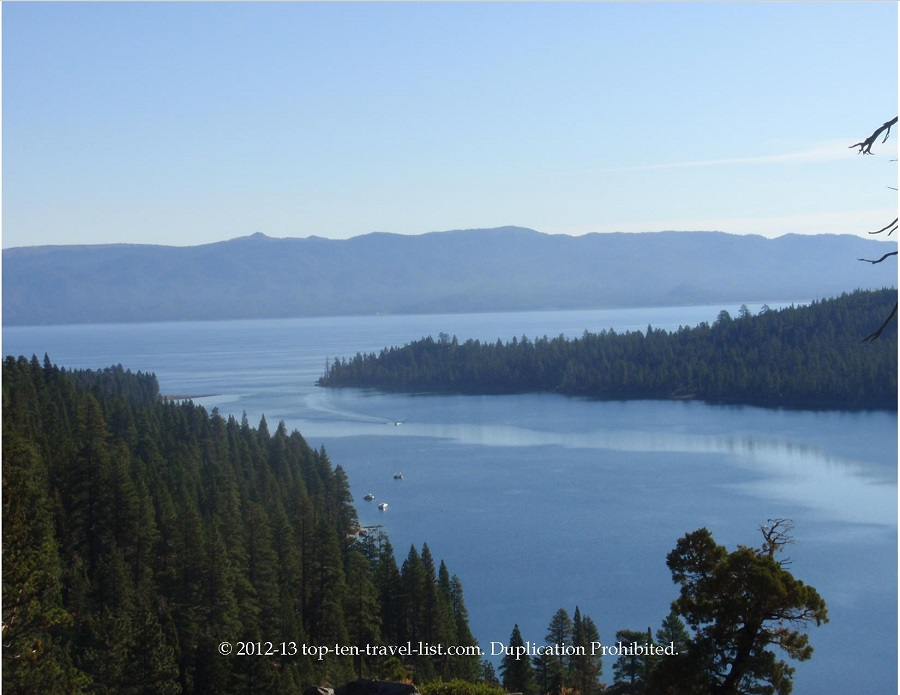 Beautiful views from Emerald Bay State Park in Lake Tahoe
