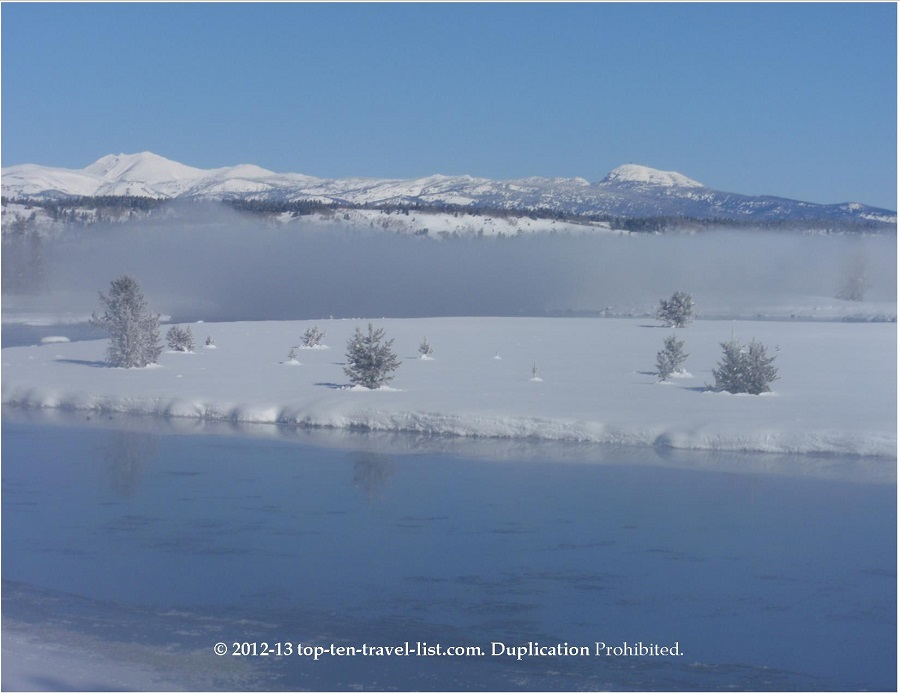 Winter scene at Harriman State Park in Island Park, Idaho