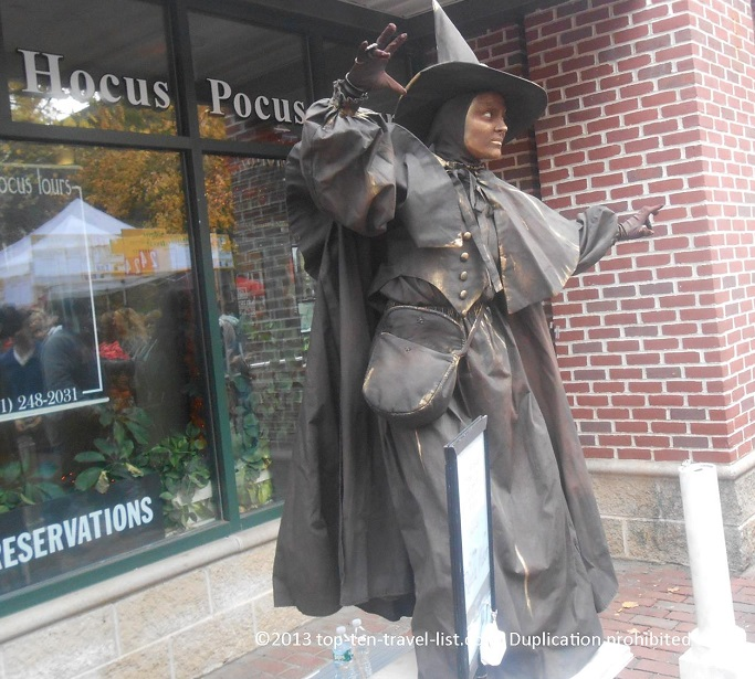 Witch display in Salem, Massachusetts